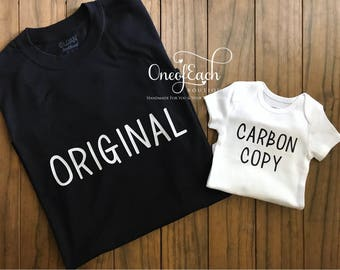 Original/Carbon Copy Daddy & Me Matching Set