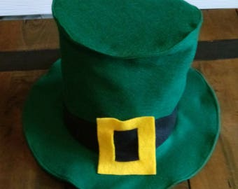 Handmade St Patrick's day, Leprechaun Costume Hat- Halloween Costume - Photo Prop