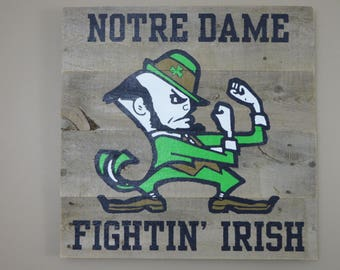 "Notre Dame Pallet Sign 20"" x 20"" - Painted - Pallet Wood Sign"