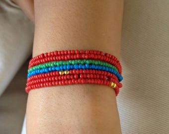 Bracelet with seed beads
