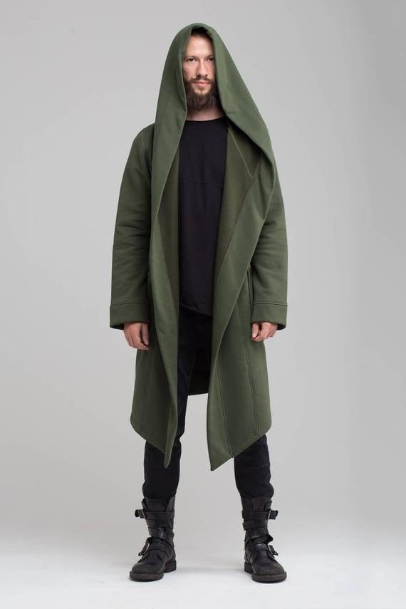 Long Coat Star Wars Men Jacket Hooded Jacket Khaki Green Man