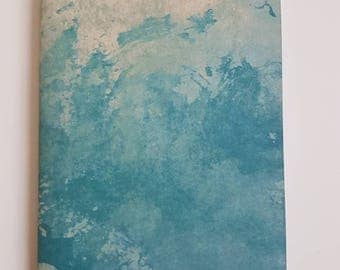 A6 Notebook // Jotter // Handmade notebook // Watercolour sketchbook // Blank Journal // Blue notepad