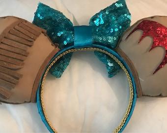 Pocahontas Ears disney inspired headband