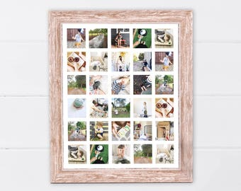 Printable Instagram Storyboard | Printable Instagram Poster | Printable Photo Wall Art