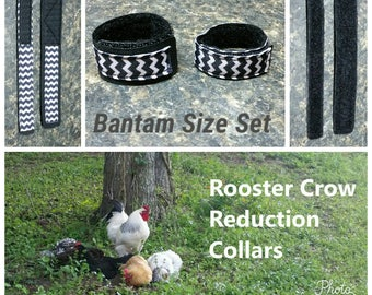 1 set BANTAM Rooster Crow Reduction Collars - Buzzzz
