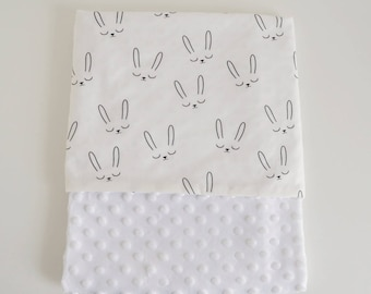 Plaid pattern Bunny blanket