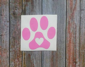 Paw Print Decal, Pet Decals, Pet Stickers, Pet Lover Gifts, Dog Decal, Cat Decal, Yeti Stickers, Dog Car Decals, Cat Car Accessories