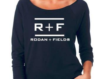 Rodan Fields  Ladies Terry Raw-Edge 3/4-Sleeve Raglan - Rodan Fields Shirt - Women's Clothing