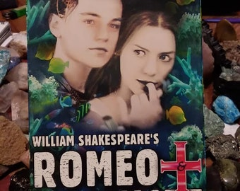 romeo and juliet vhs//leonardo dicaprio//claire danes//vhs//william shakespeare//1997