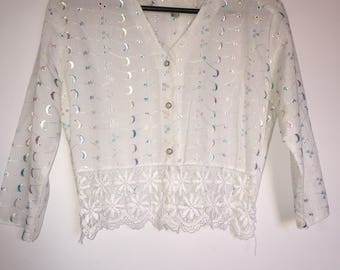 Vintage Broderie Anglaise Shirt