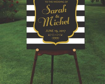 Wedding sign board printable, Digital, Customizable in Spanish or English, Wedding.