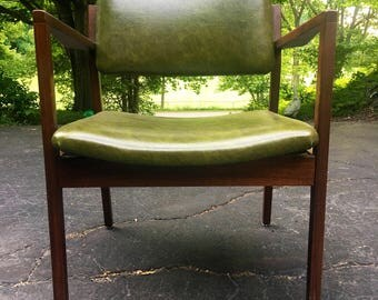 Vintage Mid Century Modern Side Chair by Jens Risom for DoMore furniture