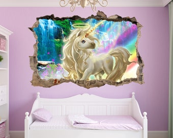 3d unicorn wall etsy