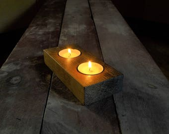 Handmade Wooden Candle Holder