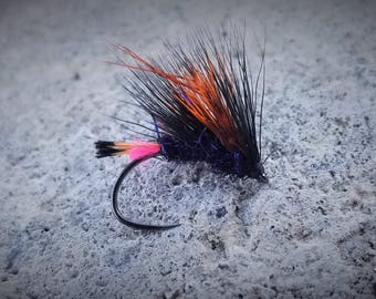 Black / Orange Hedgehog - Fly Fishing Flies