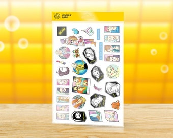 "SKAM Sticker Pack — Set of 18 Vinyl Stickers from animated series ""SKAM"" — Planner Stickers printable PDF"