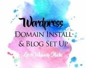 Wordpress Domain Install & Blog Set Up (Private Listing)