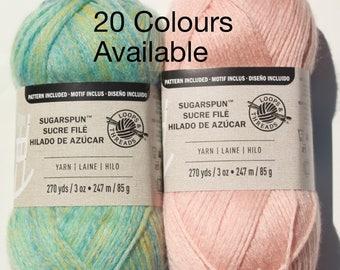 Loops & Threads Sugarspun Yarn, Sugar spun, 98%Acrylic, DK/Sport weight, Light worsted, #3, 3oz/85g  270yds/247m