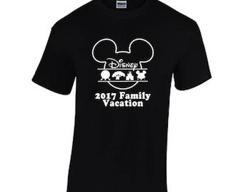 Disney World Family Vacation 2018 fan made tee shirt screen printed adult women's and youth sizes magic kingdom epcot animal kingdom resort