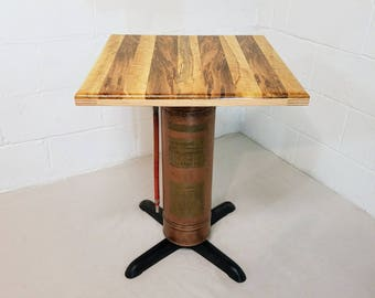 Antique Fire Extinguisher and Ambrosia Maple Table