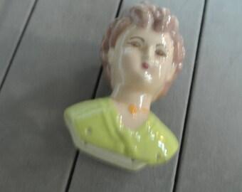 3 1/2 Inch Porcelain Doll Head