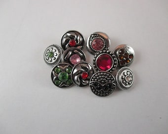 10 buttons pressure, for jewelry, rhinestone, model different between 12 mm mmet14.