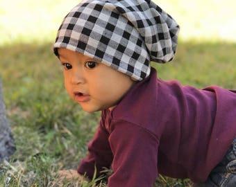 Slouchy Beanie / Baby Beanie / Toddler Beanie  / Child Beanie / Adult Beanie / Kids Beanie / Hipster Baby / Newborn Beanie / Gingham