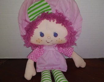 vintage 1981 strawberry shortcake raspberry tart rag doll plush