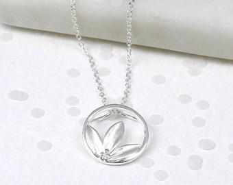 Devony Lotus Pendant, Sterling Silver, Lotus Necklace, Lotus Jewelry, Flower Pendant, Flower Necklace, Flower Jewelry, Silver Flower, Flower