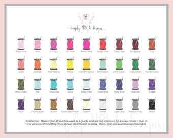 Color Chart/ Monogram Font Chart **Do not purchase**