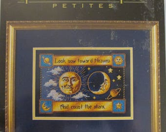 Dimensions Gold Collection Petites COUNT the STARS Counted Cross Stitch Kit Celestial Sun Moon 6742 New