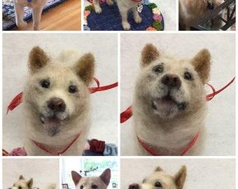 "Custum Made Needle Felted Dog ""Mini-Pup"""
