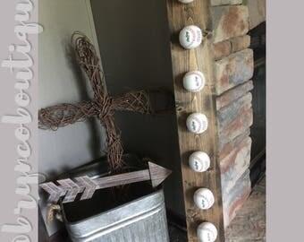 Baseball Hat Rack / Rustic Baseball Decor / Boys Room