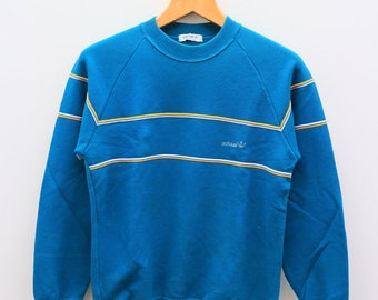 ADIDAS Sportswear Small Logo Green Vintage Pullover Sweatshirt Sweater Size M