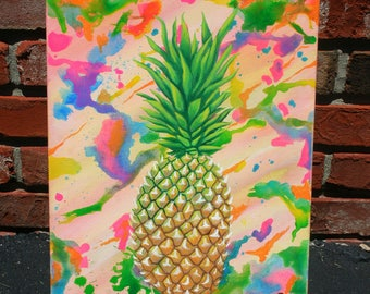 Pineapple Dreams Painting - Pineapple Art
