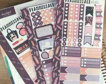 Dusty Rose | Mini Planner Sticker Kit, Personal Stickers, Planner Kit, Filofax Stickers, Purple Sticker Kit, Make Up, Erin Condren, SMC