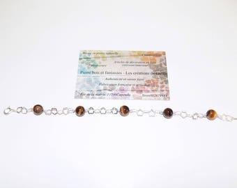 925 sterling silver and Tiger eye bracelet