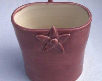 Pink Flowery Bud Vase - Ceramic Vase - Pottery Vase - Pink Vase