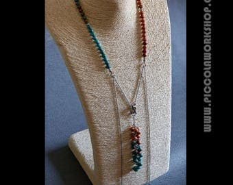 Handmade Jade Beads Chain Long Tassel Necklace