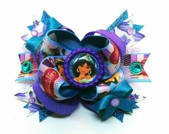 Princess Jasmine Aladdin Disney OTT Hair Bow Headband Magic Carpet Movie Genie