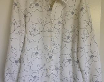 Drapey Magnolia Button Up Blouse
