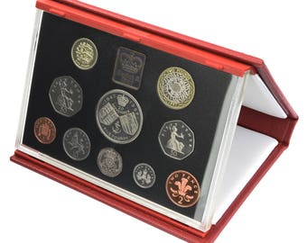1997 Royal Mint Proof Set Red Leather Deluxe