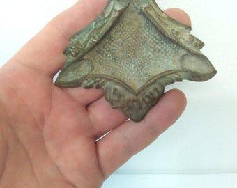antique collectible Vintage Very Old israel brass ashtray Jewish Judaica Jerusalem