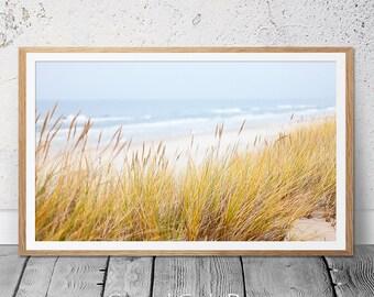 Landscape, Panorama Print, Beach Photo, Landscape Print, Beach Photography, Prints, Beach Print, Wall Art, Large Poster, Beach Wall Art