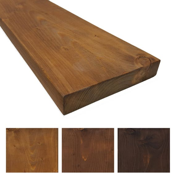 rustikales massivholz wandregal 24cm tief wandboard. Black Bedroom Furniture Sets. Home Design Ideas
