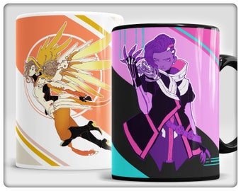 Mercy and Sombra Mugs