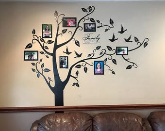 Wall Decal/Family Tree Wall Decal/Living Room Wall Decals/Photo Frame Tree