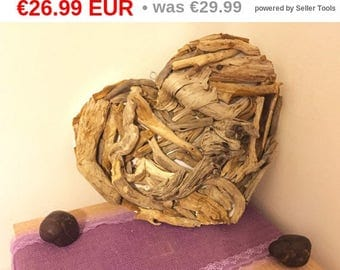 10%OFF Driftwood heart 37x32 cm / Driftwoods art/love gifts/wedding decoration