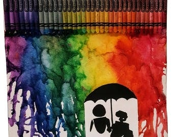 Umbrella Crayon Art
