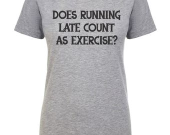 Womens Workout Tank, Running Late Is My Cardio, Gym Shirt, Workout Tank For Women, Funny Workout Shirt, Does Running Late Count As Exercise